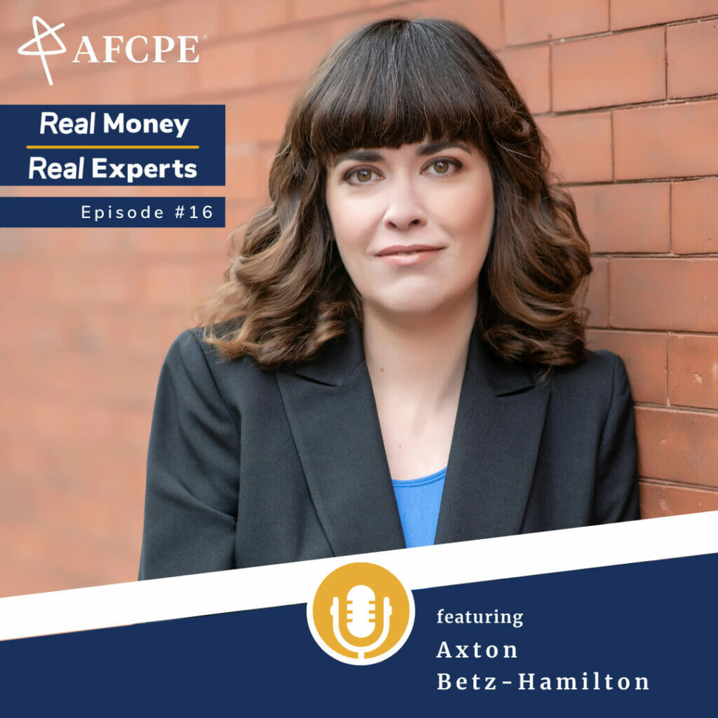 Axton Betz-Hamilton, Accredited Financial Counselor