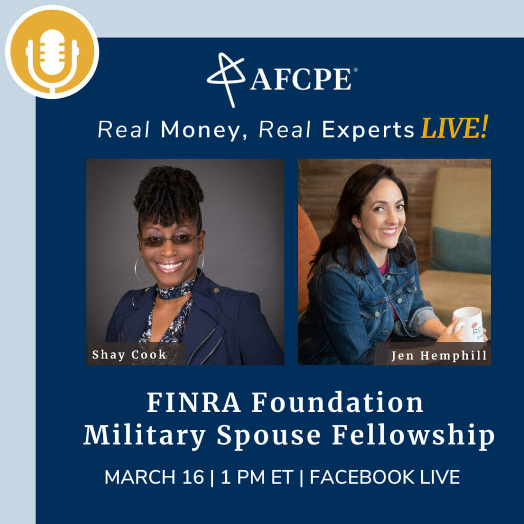 Shay Cook and Jen Hemphill share about the Military Spouse Fellowship Program on the Real Money Real Experts Podcast