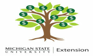 Michigan State University money tree clipart