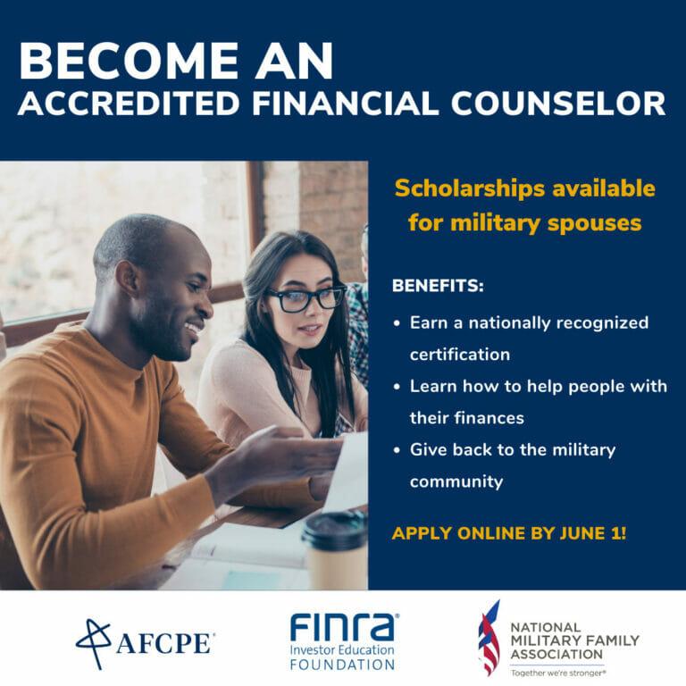 AFC online application deadline (military spouses)