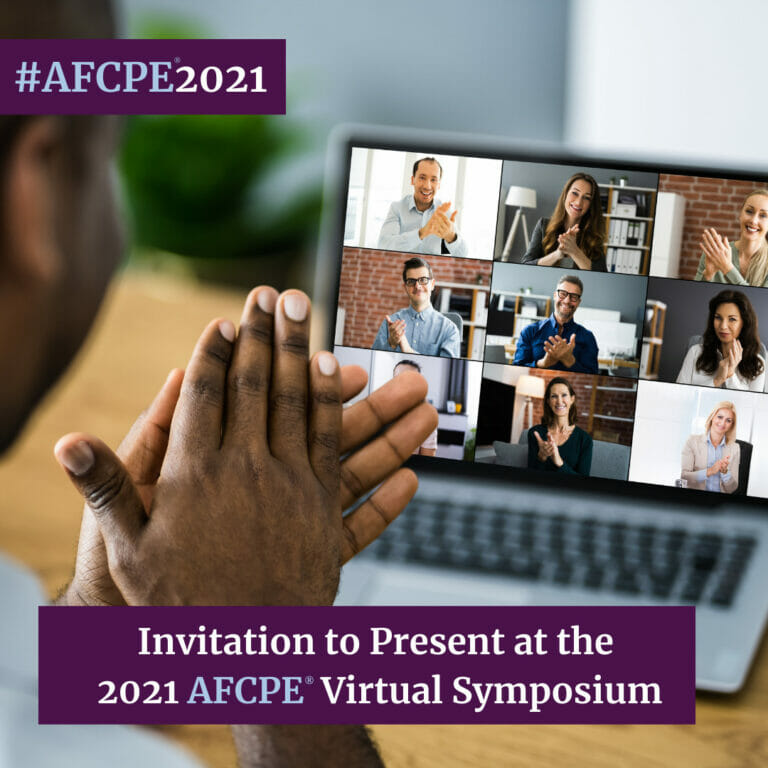 Submit your proposal to present at the 2021 AFCPE Symposium!