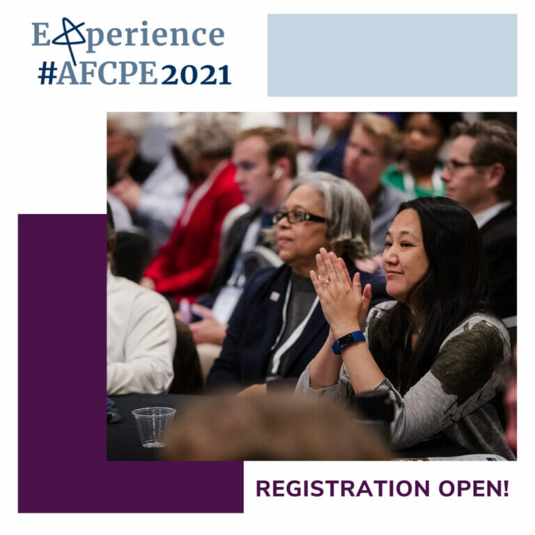Registration for #AFCPE2021 is open! Click here to learn more.