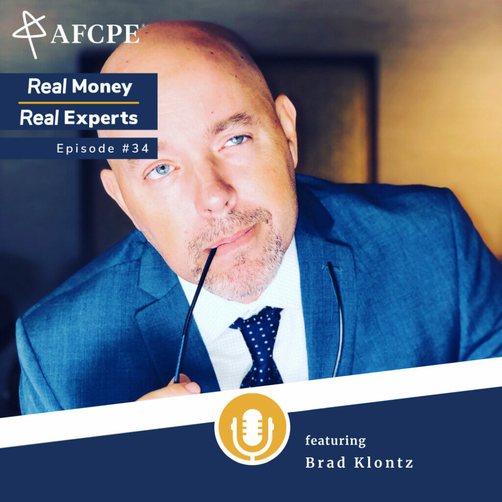 Brad Klontz guest on the Real Money Real Experts podcast