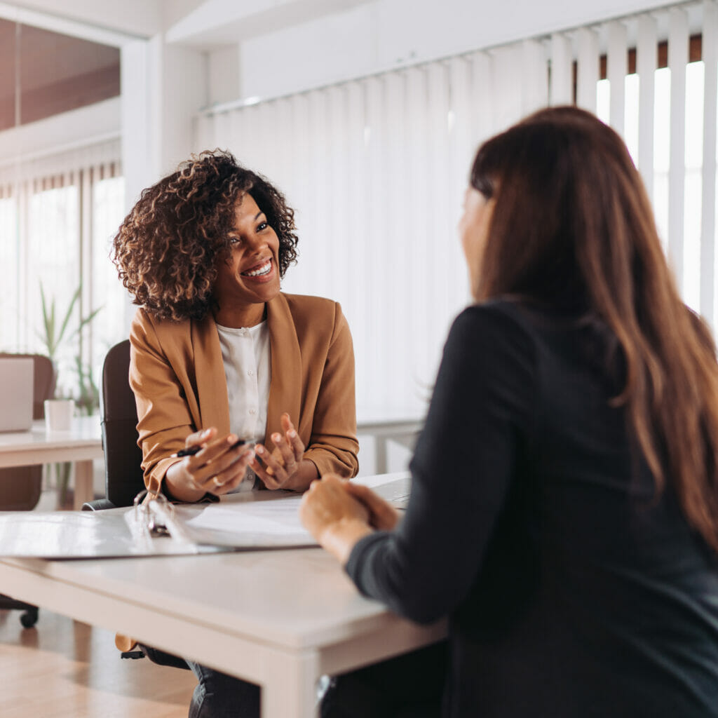 Client consulting with a financial counselor